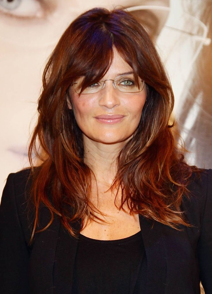 "Helena Christensen. Glasses that ""disappear"" when worn are better for more formal occasions or intricate hairstyles."