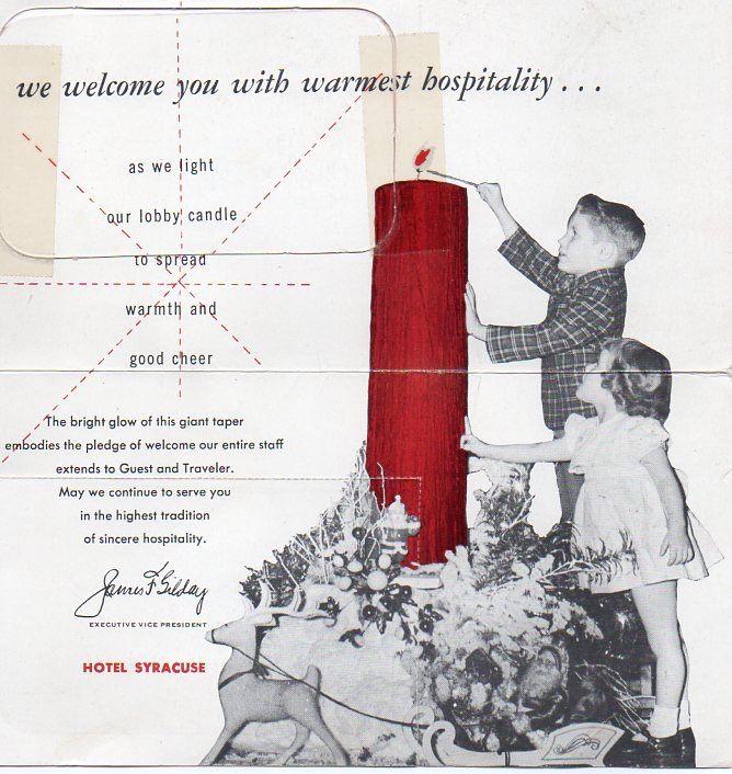 60 best syracuse new york images on pinterest syracuse new york hotel syracuse christmas card 1952 malvernweather Choice Image