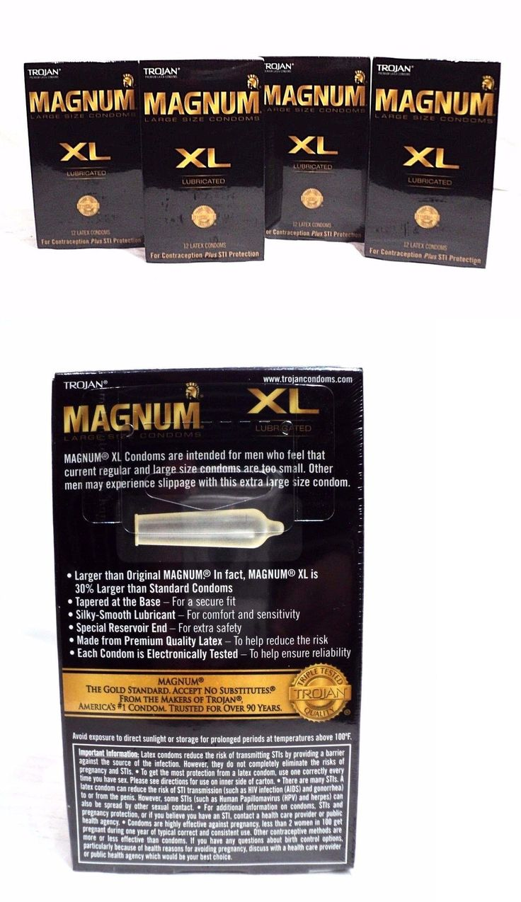 Condoms and contraceptives 4x trojan magnum xl large size condoms lubricated exp 04 2019