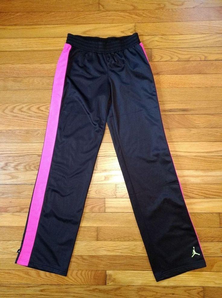 554c52f472d3f1 ... Nike Air Jordan Girls XL basketball pant black pink ...