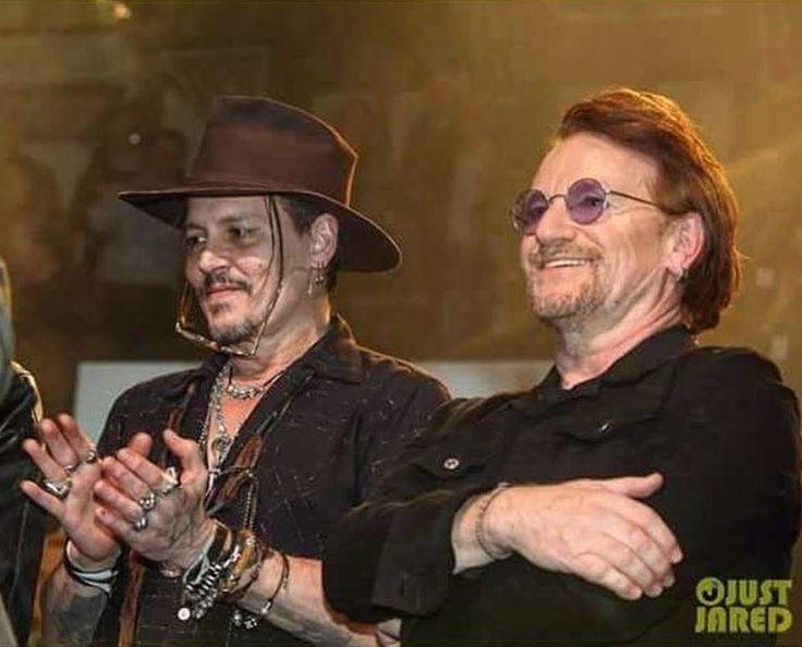 Johnny Depp et Bono -Dublin -15 janvier 2018