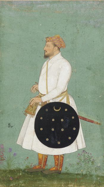 Indian Portrait of Asalat Khan mid-17th century Shah Jahan (reigned 1628-1658)) Mughal dynasty Shah Jahan (r. 1628–55)