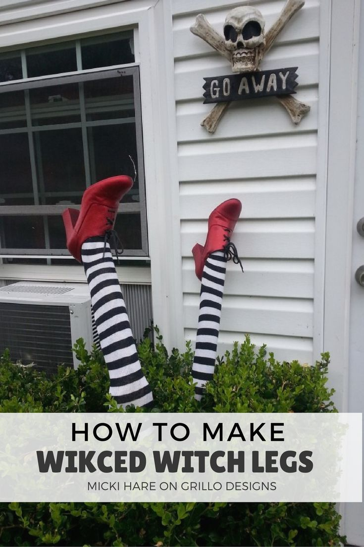 how to make wicked witch legs diy halloween decorationshalloween crafts halloween ideasoutdoor - Diy Outdoor Halloween Decorations