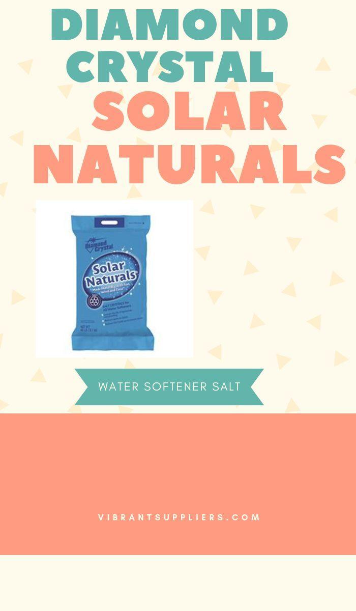 Diamond Crystal Solar Naturals Salt Crystals For Water Softeners 40 Lb Bag Water Softener Salt Affiliate Softener Salt Water Softener Water Softener Salt