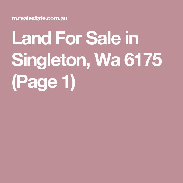 Land For Sale in Singleton, Wa 6175 (Page 1)