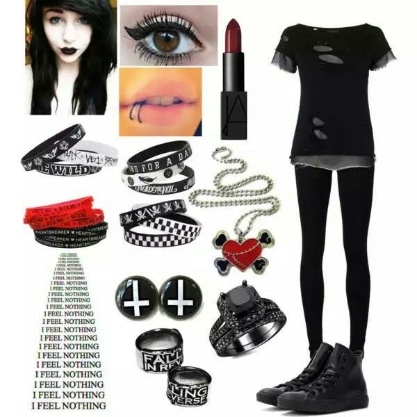 Emo Girl Polyvore My Clothing And Accessories
