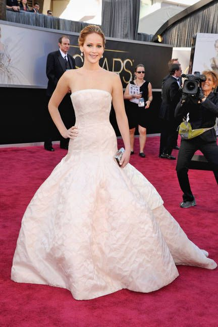 Congrats to big-time winner Jennifer Lawrence, who looked dreamy in Dior #Oscars