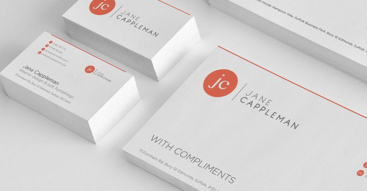 Jane Cappleman business cards and compliment slips by logicdesign.