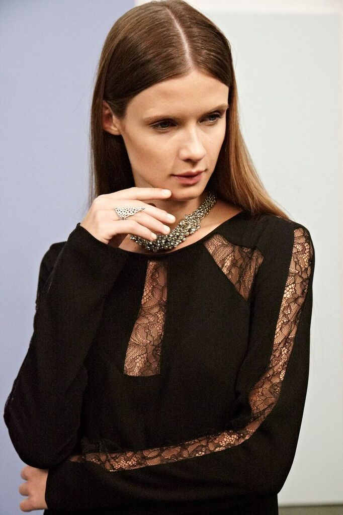 Payten Long-Sleeve Lace-Insert Shift x Behind the Scenes x Guest of the Wedding - #BCBGMAXAZRIA