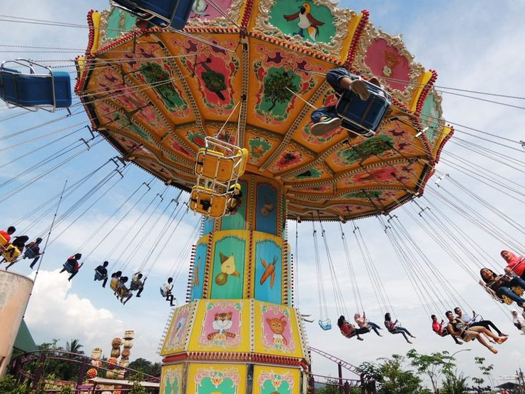 Swing at Jungle Land Theme Park, Bogor Indonesia