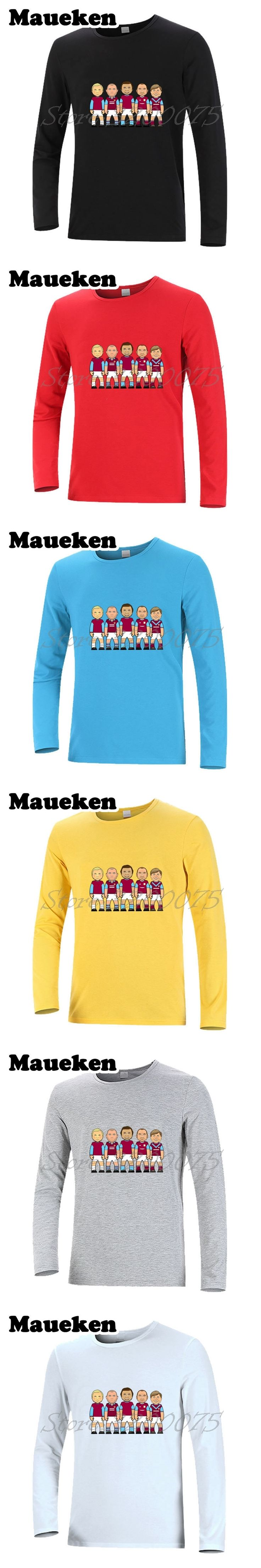 Men's Long Sleeve West legend heroes Bobby Moore Tony Cottee Paolo Ham Di Canio Billy Bonds Trevor Brooking Julian Dicks T-Shirt