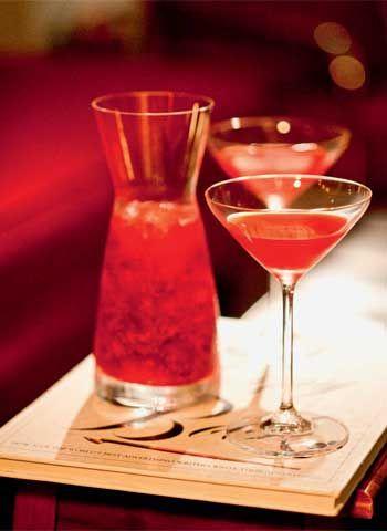 Casa e Jardim - Casa e Comida - NOTÍCIAS - Vodca martini de framboesa com limoncello