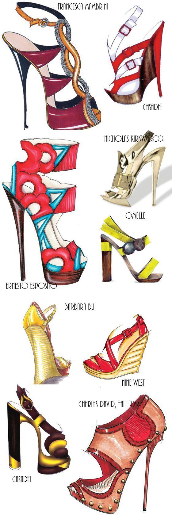 Earth ✵Wheel ✵ Sky✵ Caravan: Shoes Sketches: