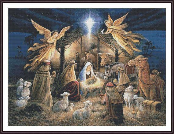 Nativity Cross Stitch Pattern Jesus Cross by ZAnnaCrossStitch