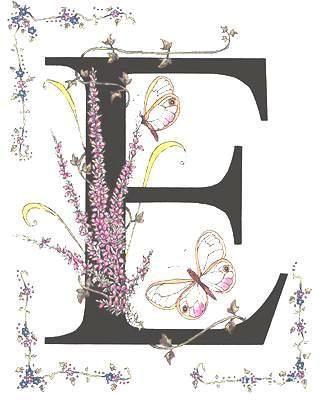 FLORES Y LETRAS PARA DECOUPAGE (pág. 27) | Aprender manualidades es facilisimo.com Floral Letters to print