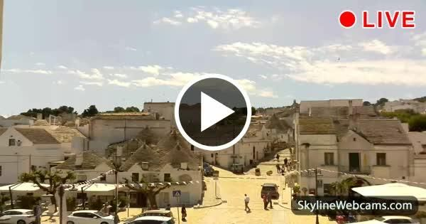 Charming live view from Alberobello in Puglia - Italy