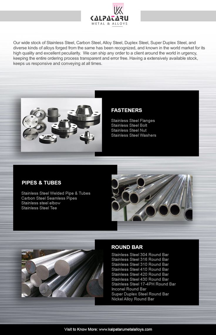 We are manufacturer & supply high quality of stainless steel round bar grades 34, 304L, 316, 316L,  310, 410, 420, 430 , 17-4PH, Inconel Round Bar, Nickel Alloy Round Bar, Super Duplex Steel Pipes & Tubes, Stainless Steel  Seamless Pipes & Tubes, copper tubes in roll form all over the world.