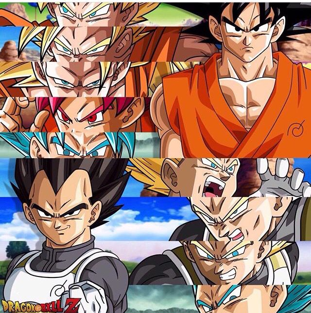 Vegeta y Goku fases hasta dbs                                                                                                                                                      More