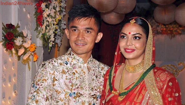 Sunil Chhetri weds long-time girlfriend Sonam Bhattacharya