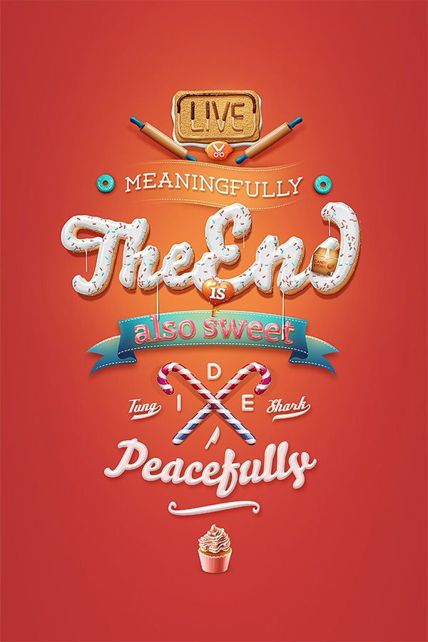 The End Art Works by Tung Shark , via Behance - love this especially because of the holiday spirit