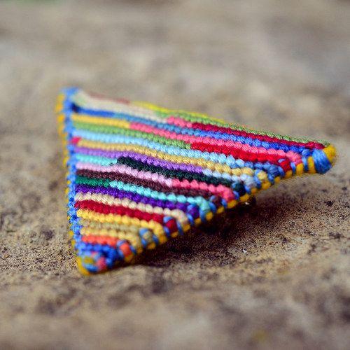 Ligia II by Zauzleno, textile macrame brooch