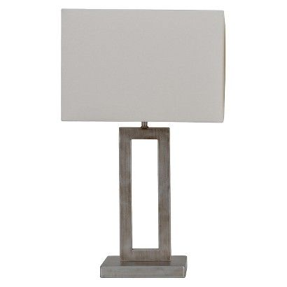 Threshold™ Window Table Lamp - Silver (Includes CFL Bulb)