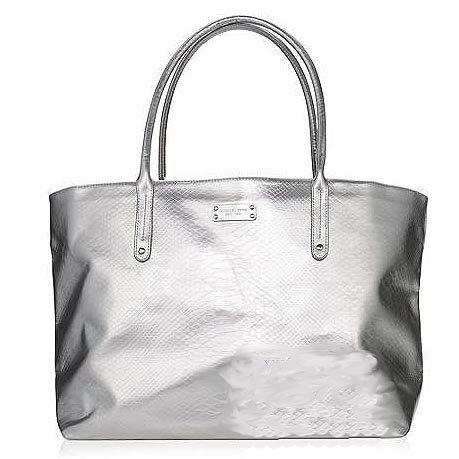Michael Kors Silver Metallic Cosmeticakeup Tote Case Bag By 52 00 Ko
