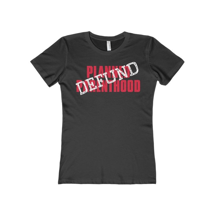 Our latest product is now up in our t-shirt shop. Check out Defund Planned Pa... at http://puredesigntees.com/products/defund-planned-parenthood-womens-the-boyfriend-tee?utm_campaign=social_autopilot&utm_source=pin&utm_medium=pin.