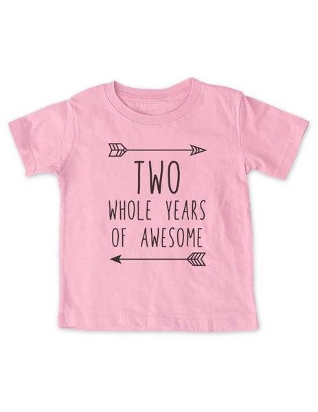 9fc15bf5701ee TWO whole years of Awesome - cool boho Birthday Shirt 2nd Age 2 Two ...