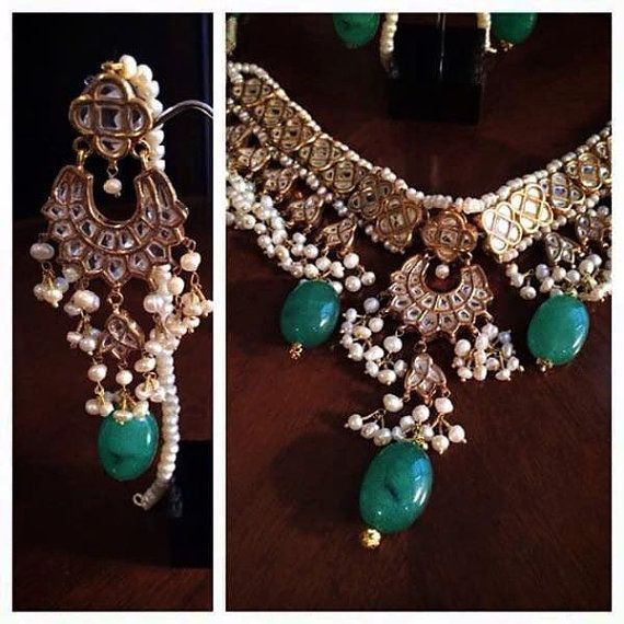 Indian Jewellery Pearl Gold Silver by KAJewelleryEmporium on Etsy