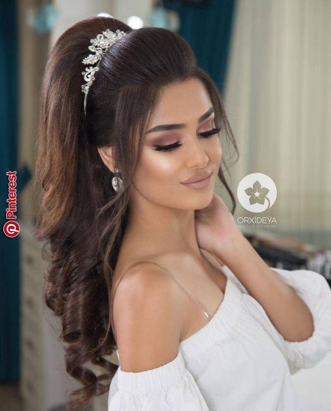 Peinados | Recamara in 2019 | Pinterest | Wedding Hairstyles, Prom hair and Wedd…