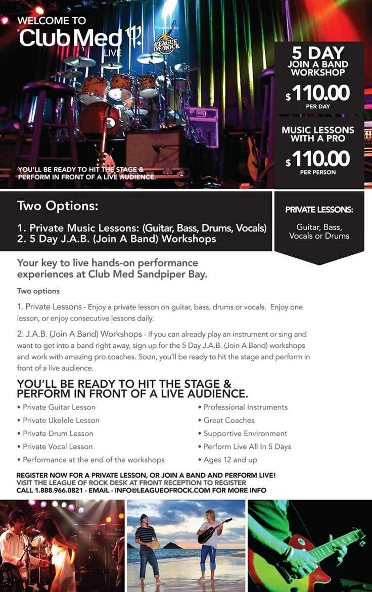 Live Music Performance Programs Come To Club Med Sandpiper Bay... A first.