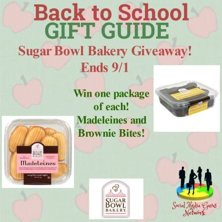 Sugar Bowl Bakery Giveaway (US) ends 9/1; enter to win at http://crtvlsy.ca/2vLAy9j