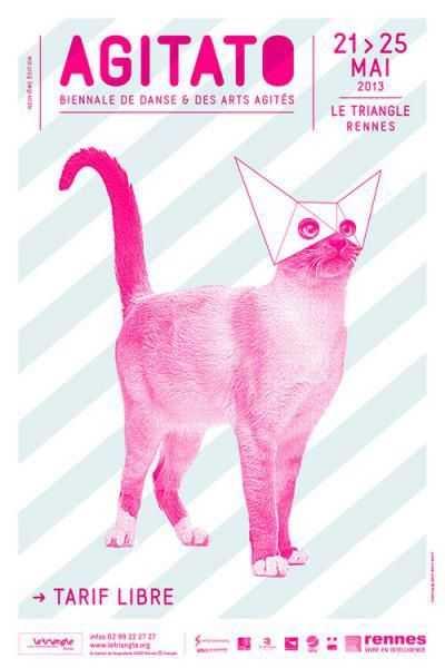 Agitato Cat Poster