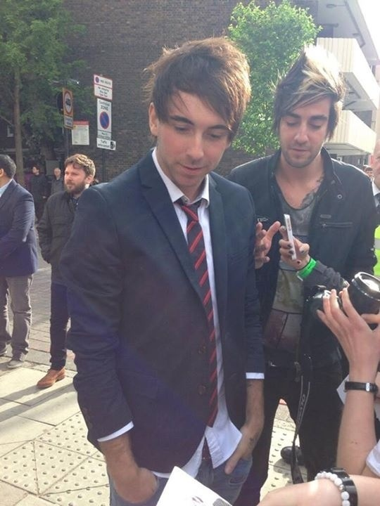 Alex looking rather fetching in a blazer :D