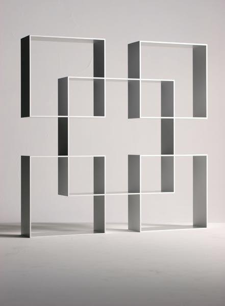 Aziz Sariyer; Aluminum 'Pause Three' Bookcase for Moroso, 2003.
