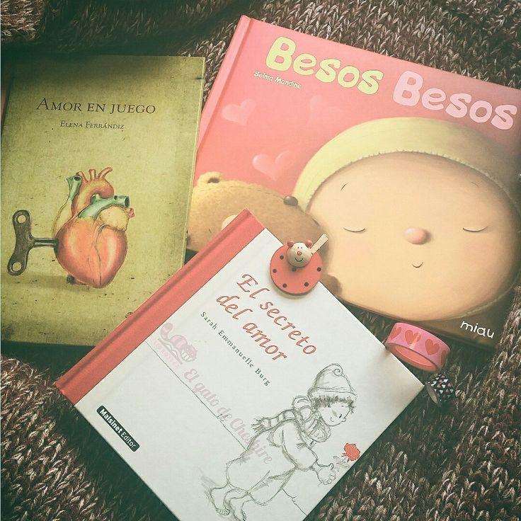 Libros para los que celebráis San Valentín. Historias en las que no hacen falta las palabras, diferentes tipos de besos y juegos en los que el corazón estará muy presente.