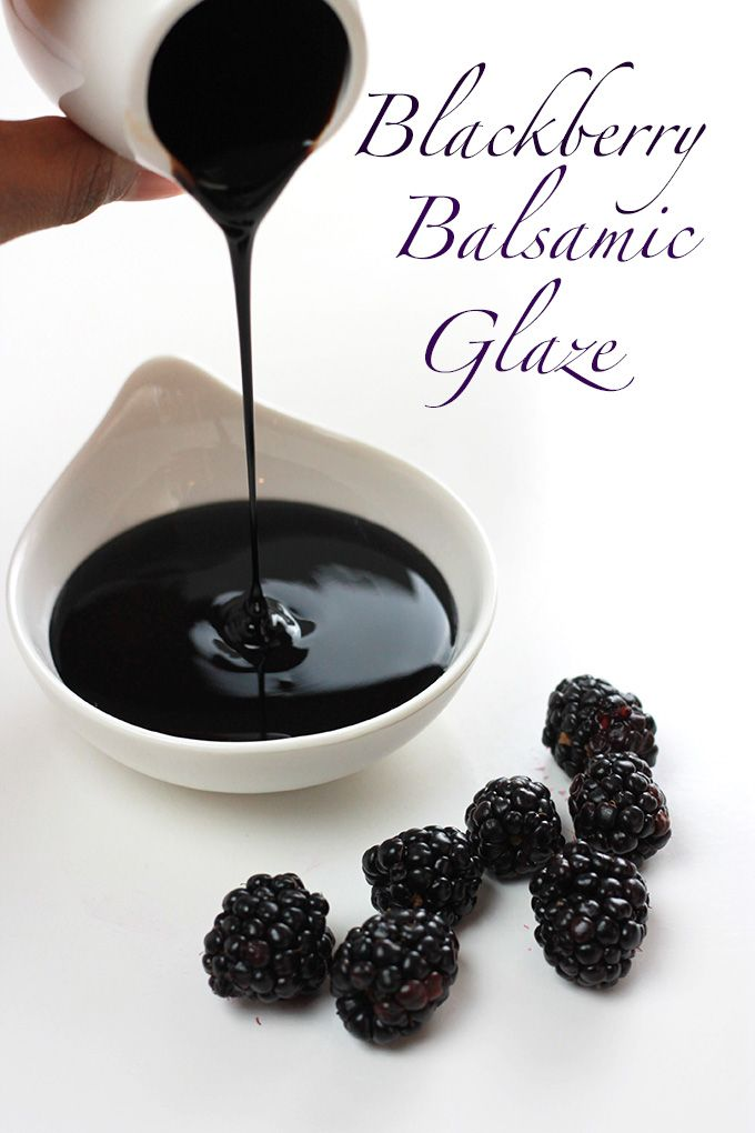 This Blackberry Balsamic Glaze is rich, smooth and creamy, lightly sweetened with maple syrup and loaded with plump juicy blackberries. Delic