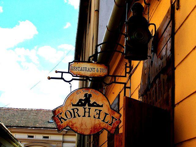 Signboard, Restaurant, Pecs