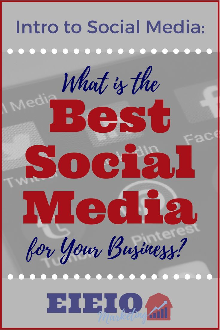 What are the best social media platforms for your business? EIEIO Marketing breaks down the major players.