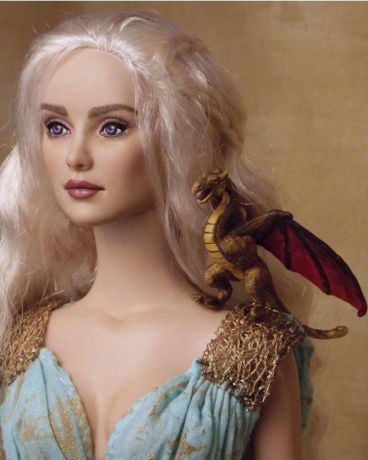 Twitter / ipaintdolls: OOAK Daenarys with dragon ...