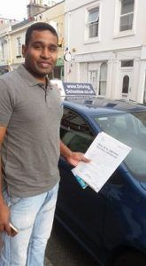 Navratnam has been having Driving lessons in Paignton and has passed his Driving Test. After the disappointment last time of the smallest rollback ever costing him, this time he held his nerve at the start and had a cracking drive. Darren his Driving Instructor who works for The Driving School sw said I ll miss our...