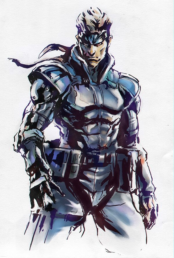 Metal Gear Solid. Solid Snake on Behance