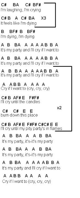 Flute Sheet Music: Pity Party