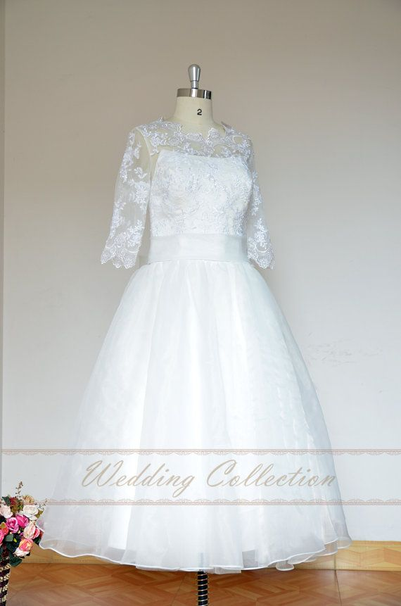Lovely tea length Elopement dress informal by Weddingcollection, $189.99Etsy