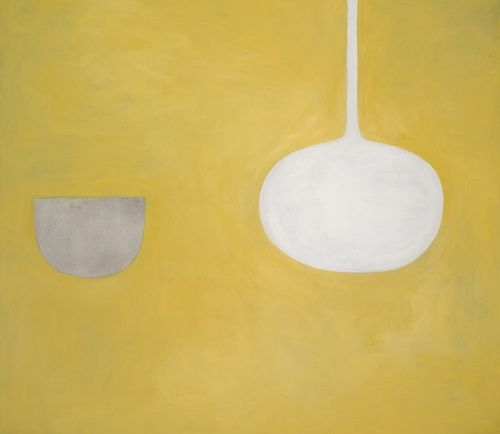 William Scott (Scottish, 1913-1989), Quiet Ochre. Oil on canvas, 42 x 48 in.