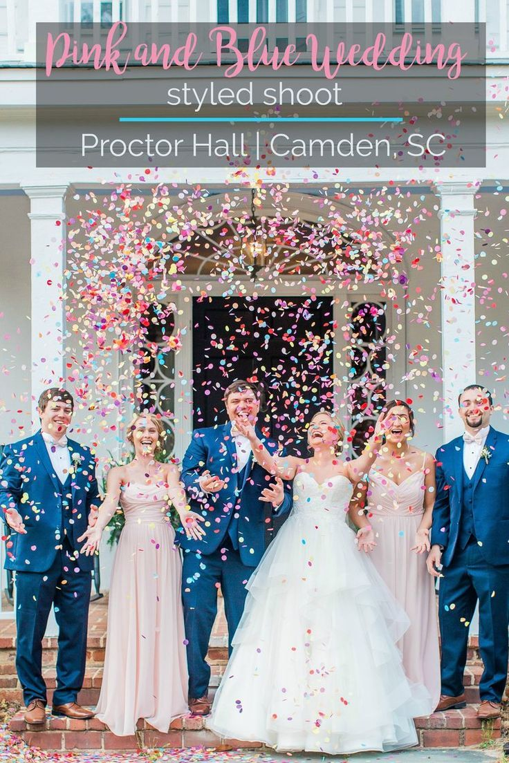 Wedding inspiration pink and blue wedding styled shoot at proctor