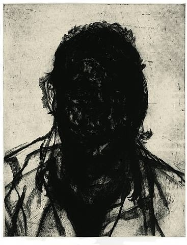 Glenn Brown, Layered Portrait (after Lucian Freud) 6