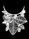 Marzio Fiorini Rubber Jewellery Rozas Necklace in White