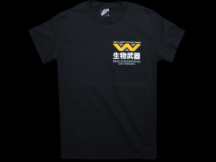 A three colour design, hand screen printed on a regular fit, 100% cotton black t-shirt. Inspired by the 1986 film, Aliens.